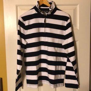 J CREW MERCANTILE men's stripes and 3/4 zip NWT